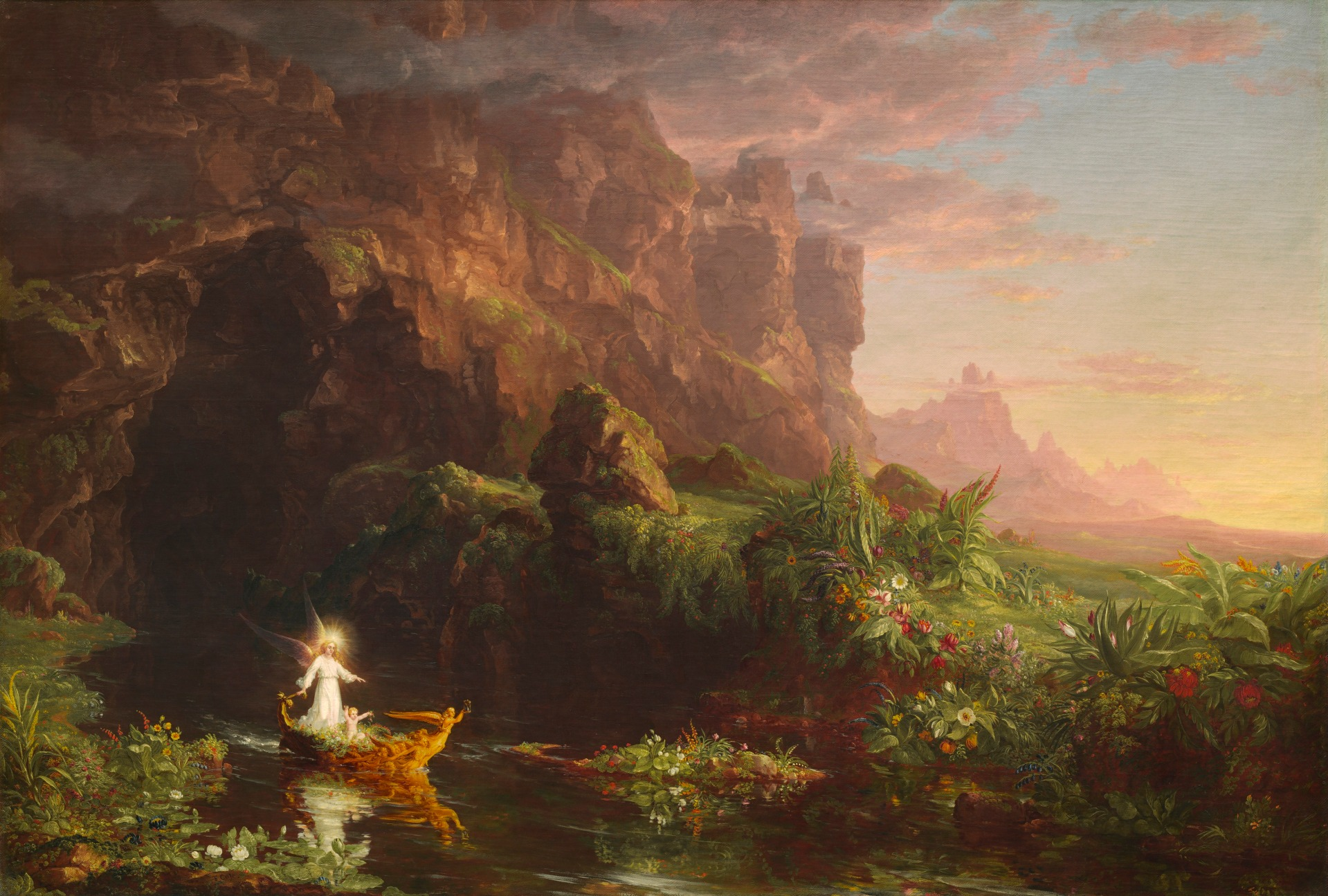 Thomas Cole, The Voyage of Life - Childhood