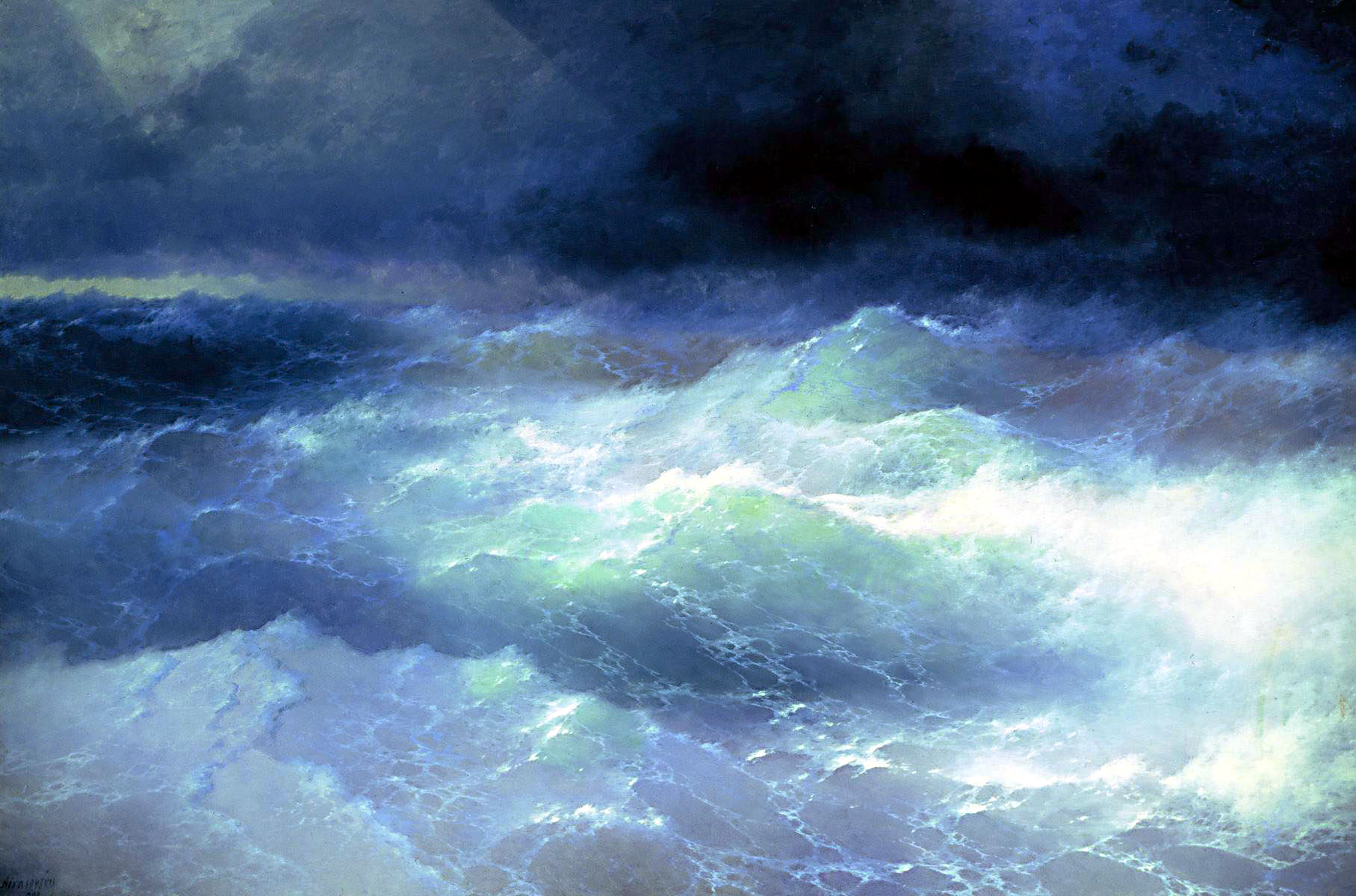 ivan-aivazovsky-among-the-waves-1898