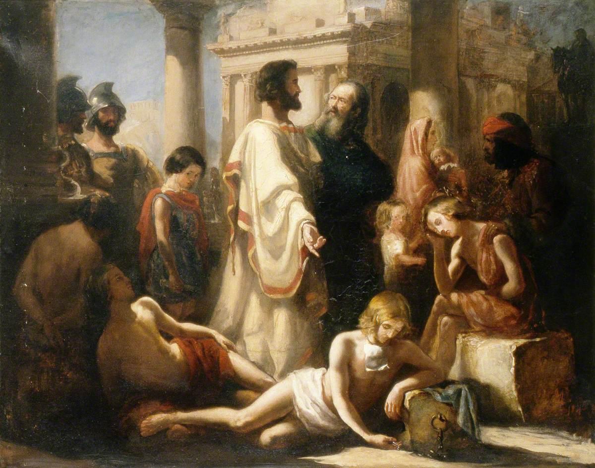 Millais, John Everett, 1829-1896; Non angli sed angeli